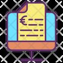 Mreceipt Display Invoice Euro Icon