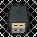 Displayport Dp Digital Icon