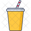 Disposable Glass Cold Drink Bottle Icon