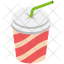 Disposable Cup Disposable Juice Straw Cup Icon