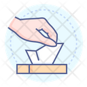 Disposable Wipes Tissue Hand Icon
