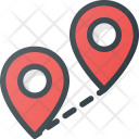 Distance Pin Geolocation Icon