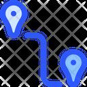 Map Navigation Distance Icon