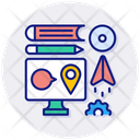 Distance Learning Elearning Icon