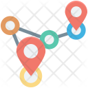Distance Gps Location Icon