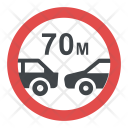 Distance Between Vehicles Sign Icon