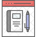 Distance Learning Elearning Modern Education Icon
