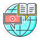 Distance E Learning Education Icon