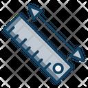 Distance Meter Level Tool Leveler Icon