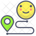 Distance pin Icon
