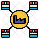 Distributing Factory Logistic Icon