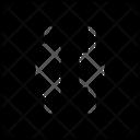 Distribute Horizontal Centers Icon