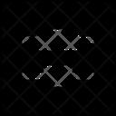 Distribute Vertical Centers Icon
