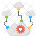 Distributed Cloud Process Icon