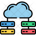 Cloud Computing Cloud Database Data Center Icon