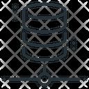 Distributed Database Database Network Icon