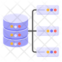 Shared Server Database Networking Distributed Database Icon