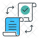 Distributed Document Document File Icon