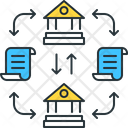 Distributed Ledger Data Databasenetwork Icon