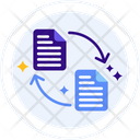 Distributed Ledger Document Transfer Document Exchange Icon