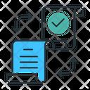Distributed Ledgerdata Databasenetwork Icon