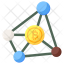 Bitcoin Network Cryptocurrency Network Digital Currency Icon