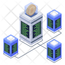 Crypto Connection Distributed Network Bitcoin Network Icon