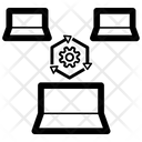 Distributed Processing Distributed Processing Icon