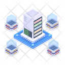 Distributed Servers Servers Technology Servers Network Icon