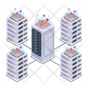 Server Connection Servers Network Distributed Servers Icon