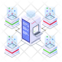 Connected Servers Distributed Storage Server Technology Icon