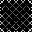 Distribution Shunting Spread Icon