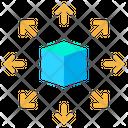 Product Distribution Item Distribution Arrow Icon
