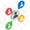 Distribution Channel Personal Contacts Social Network Icon