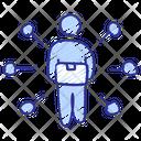 Distributor Supplier Transfer Icon