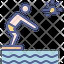 Swim Swimming Diving Icon