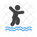 Jumping Water Dive Icon