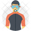 Swimmer Diver Plunger Icon