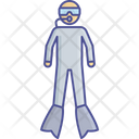 Diver Diving Gears Icon
