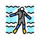 Diver Swimming Underwater Icon