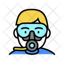 Diver Mask Breath Icon