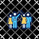 Diverse Work Team Icon