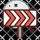 Diversion Barricade Road Block Icon