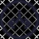 Center Navigation Direction Icon