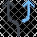 Divide Fork Twist Icon