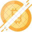 Divide Bitcoin Icon