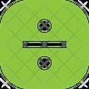 Divide Button Square Icon