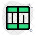 Divide Cell Interface Essentials Table Green F Icon