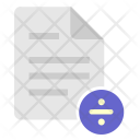 Divide Info Document Icon
