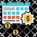 Dividend Date Calendar Budget Icon